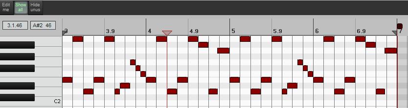 Combined MIDI item
