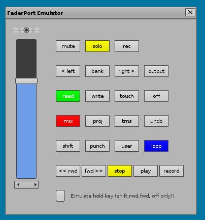 FaderPort Emualtor GUI